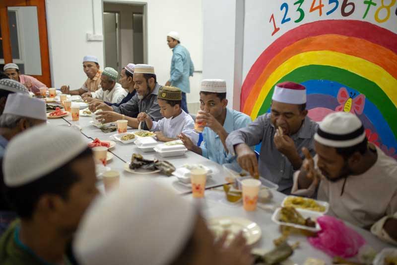 Rohingya Community in Malaysia Join Iftar
