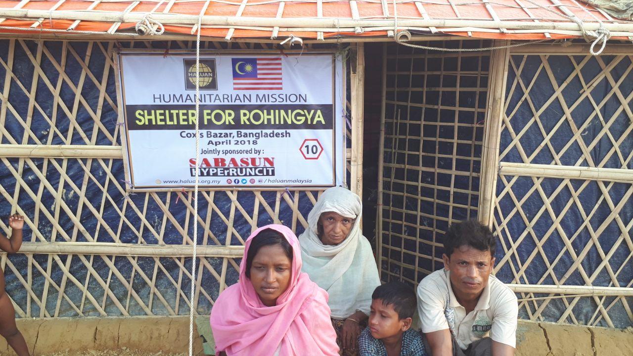 Kerjasama HALUAN dan Sabasun Hyperuncit Baikpulih Khemah Pelarian Rohingya