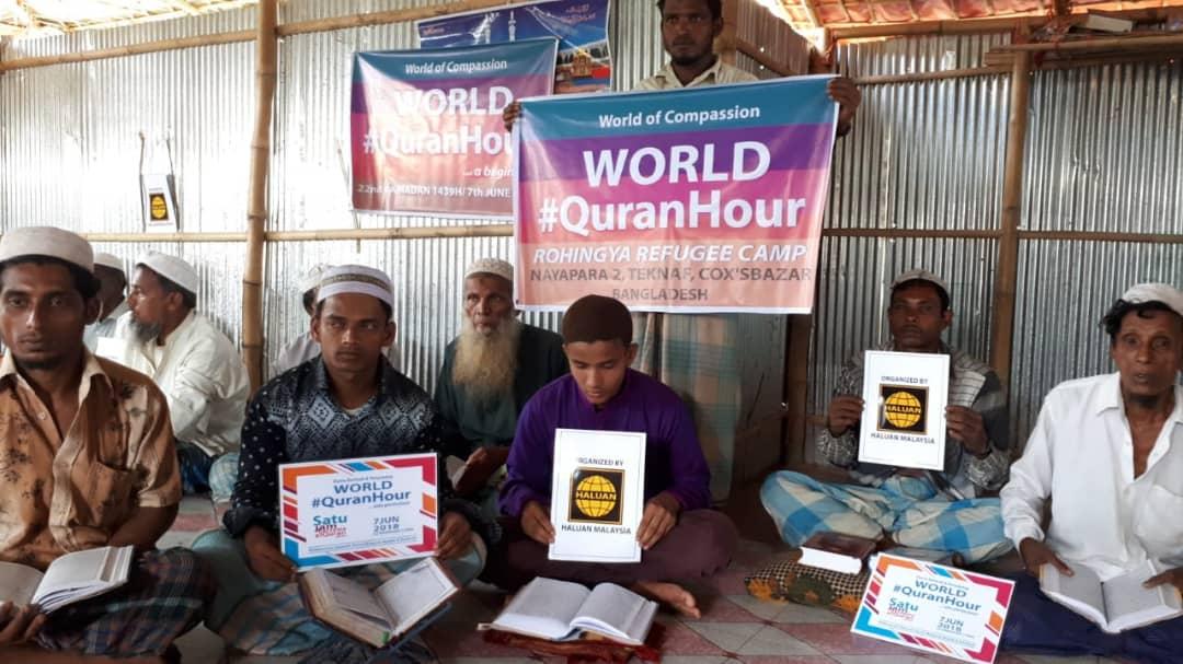 HALUAN Iringi Quran Hour Dari Kem Pelarian
