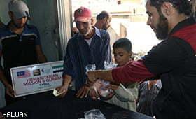 HALUAN Agih Daging Korban Kepada 780 Keluarga di Gaza & Syria