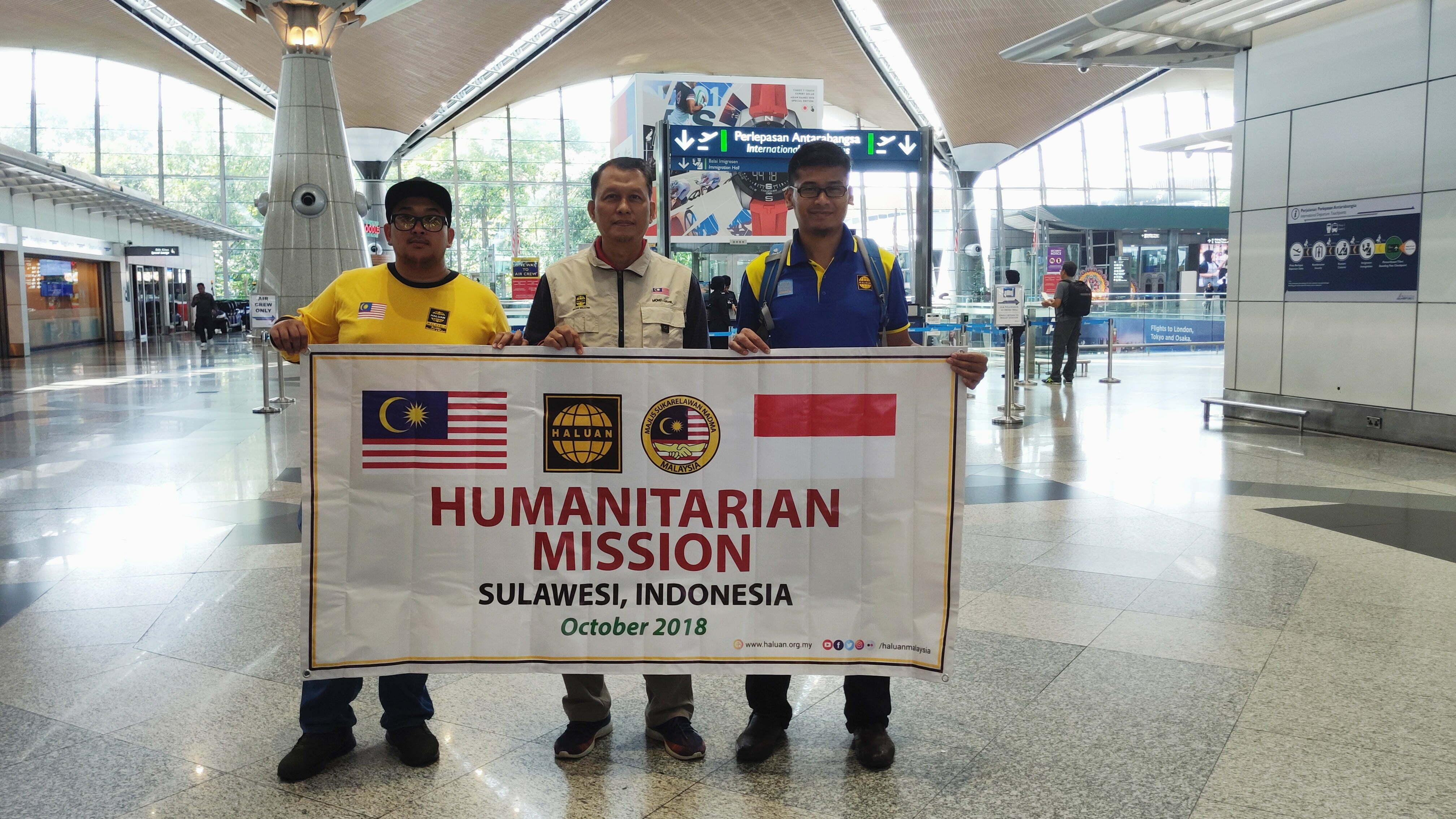 HALUAN Teruskan Misi Membantu Mangsa Tsunami dan Gempa di Sulawesi