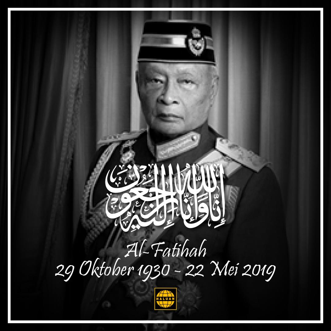 Sembah Takziah di Atas Kemangkatan KDYMM Sultan Haji Ahmad Shah