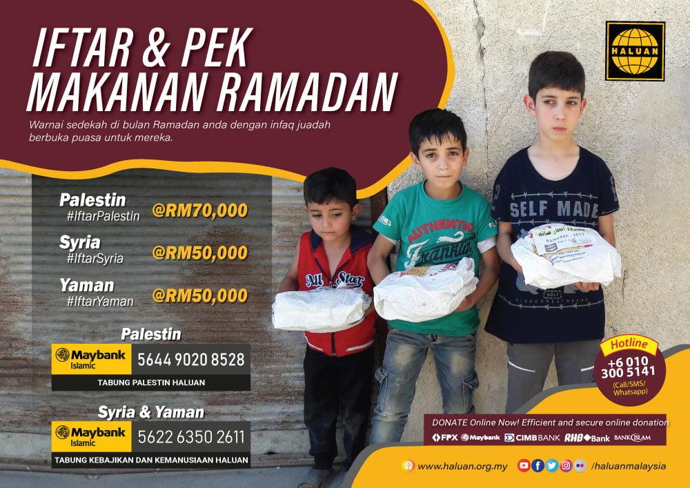 Iftar & Pek Makanan Palestin, Syria & Yaman