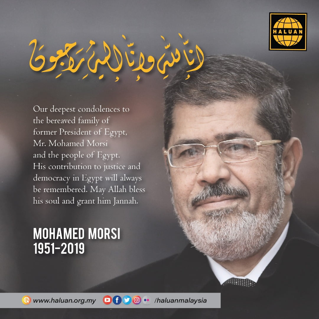 Condolences to Family of Dr. Mursi