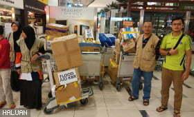 HALUAN & Firely Terbangkan Bantuan Kepada Mangsa Banjir