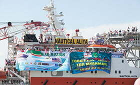 Kapal Kemanusiaan Nautical Aliya Masuk Laut Andaman