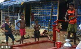 Gabungan NGO Asean Akan Bina Sistem Bekalan Air Berpusat Untuk Pelarian Rohingya di Teknaf