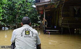 HALUAN Lancar Bantuan Kecemasan Banjir