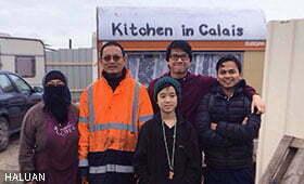 Ahli HALUAN Bantu Urus Dapur Kem Pelarian Calais