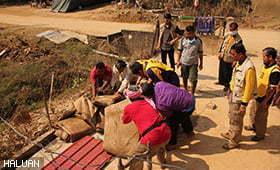 HALUAN Gesa Bantuan Pasca Banjir