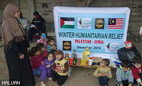 Relawan HALUAN Salur Bantuan Kem Pelarian Lubnan