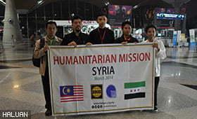 UTeM dan HALUAN Lancarkan Misi Kemanusiaan Syria