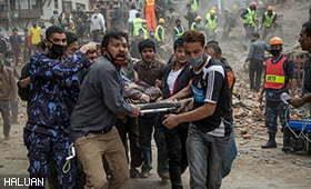 HALUAN Lancar Tabung Kemanusiaan Gempa Bumi Nepal