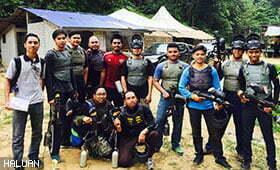 7 Pasukan Berentap Di Medan Tempur Paintball