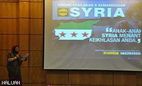 Warga UTeM Masih Peduli Isu Syria