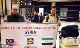 HALUAN Lancar Bantuan Musim Sejuk Ke Sempadan Jordan