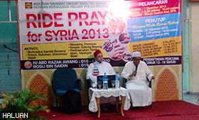 """Kutipan """"Ride Pray For Syria 2013"""" di Seberang Perai Selatan"""