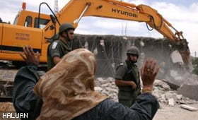 Tentera Zionis Roboh Rumah, Khemah dan Telaga Penduduk Palestin