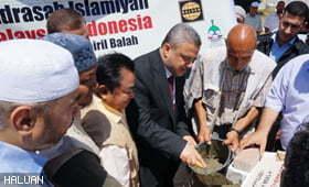 Perasmian Perletakan Batu Asas Madrasah Islamiyah Malaysia-Indonesia