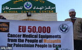 HALUAN Serah Bantuan Rawatan Kanser di Gaza