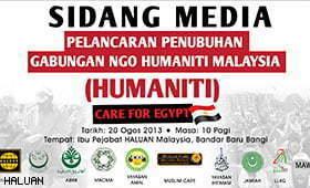 Gabungan NGO Humaniti Malaysia (HUMANITI) Kecam Pembunuhan di Mesir