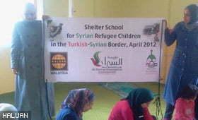 Masyarakat Prihatin Malaysia Bantu Sekolah Untuk Anak-Anak Pelarian Syria