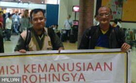 Relawan HALUAN Memasuki Sittwe di Myanmar