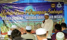 HALUAN Johor dan YADIM Bekerjasama Santuni Saudara Baru dan Fakir Miskin