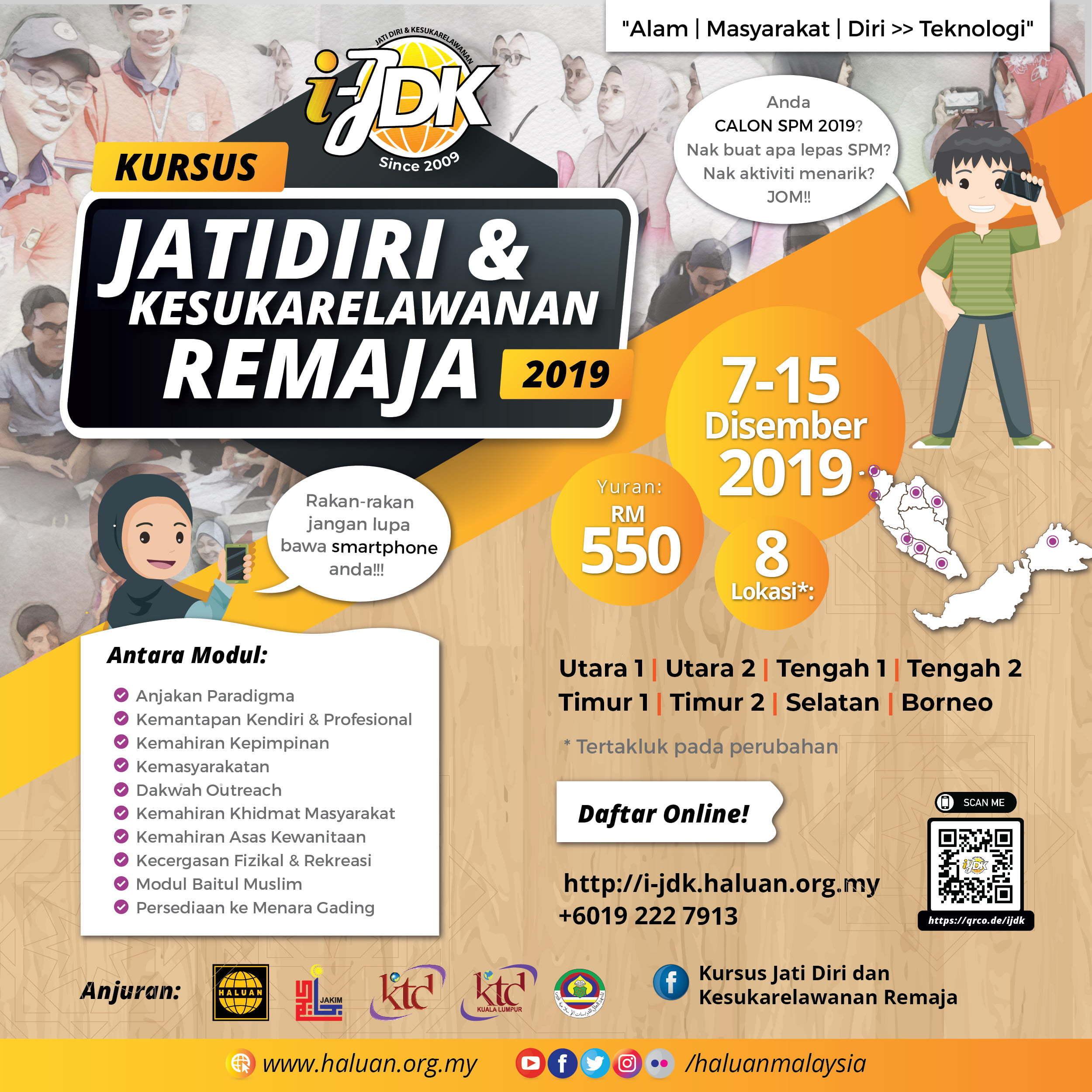 Kursus Jati Diri & Kesukarelawanan Remaja (i-JDK) 2019