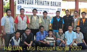 50 Relawan HALUAN Berkampung di Pekan