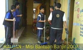 Relawan HALUAN Bantu Kerja Pemulihan & Pembersihan