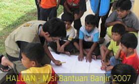 HALUAN Mendidik & Berbakti Kepada Anak Mangsa Banjir