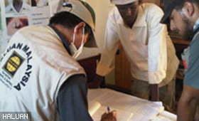 Damajaley Gets Medicines & Water