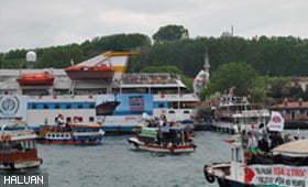 Kapal Mavi Marmara Mulakan Pelayaran Dengan Sambutan Penuh Gemilang