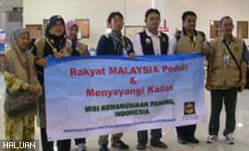 Pasukan ke-5 Misi Kemanusiaan Padang terus bertugas setiba di Padang