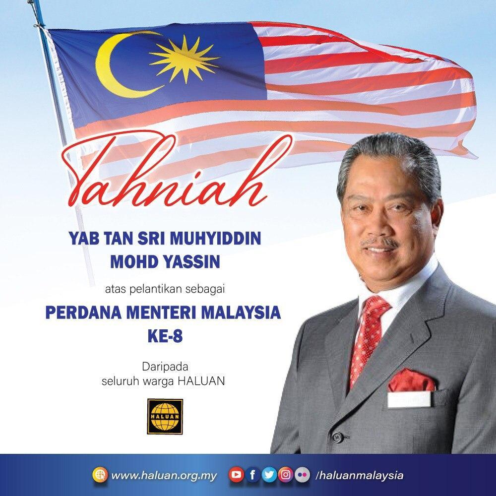 Tahniah Perdana Menteri Malaysia ke-8