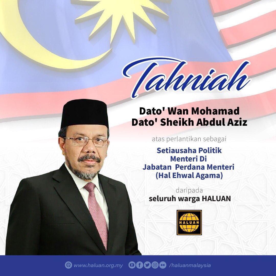 Tahniah Dato' Wan Mohamad
