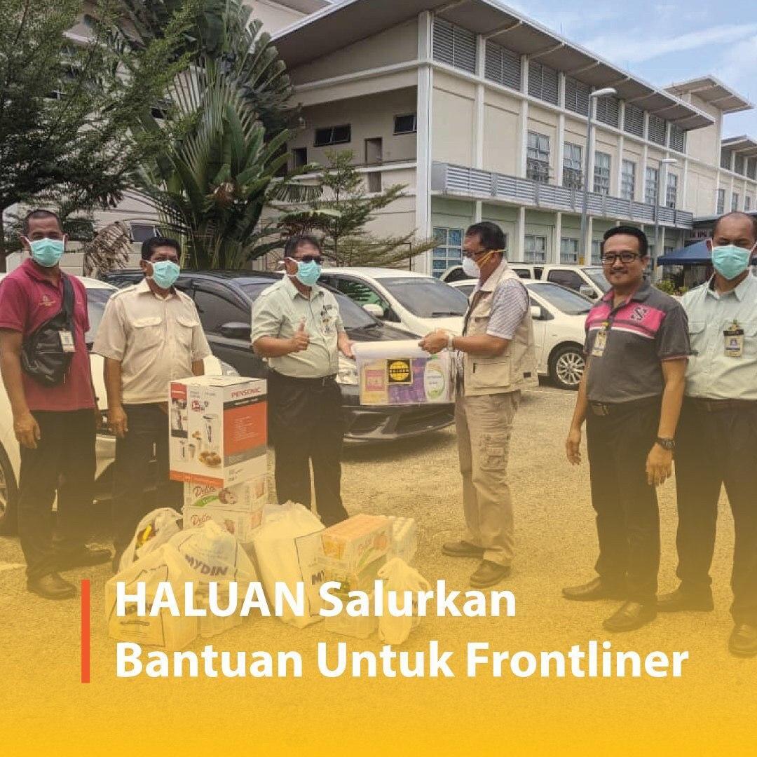 HALUAN Salurkan Bantuan Frontliner