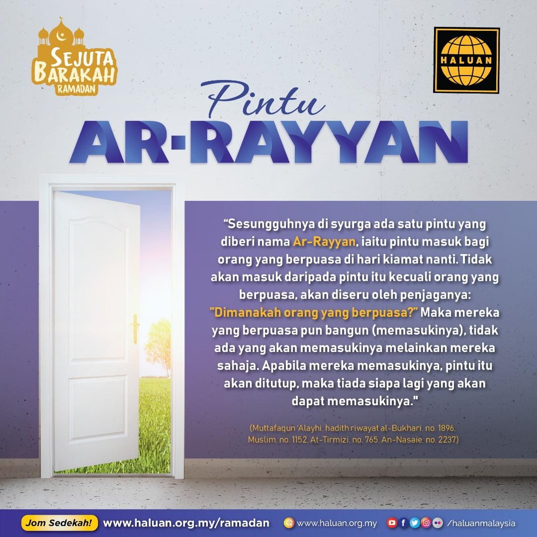 Pintu Ar-Rayyan Bagi Mereka Yang Berpuasa