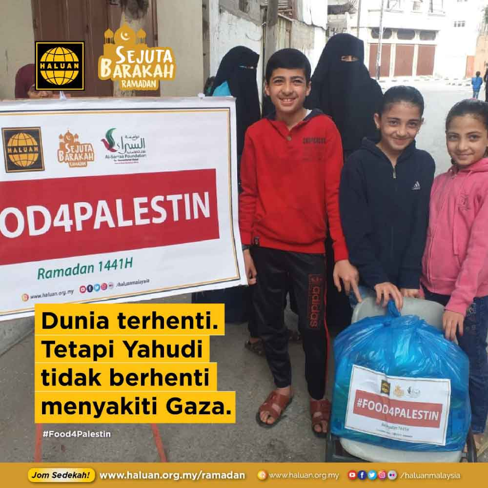 HALUAN Salur Pek Makanan di Gaza