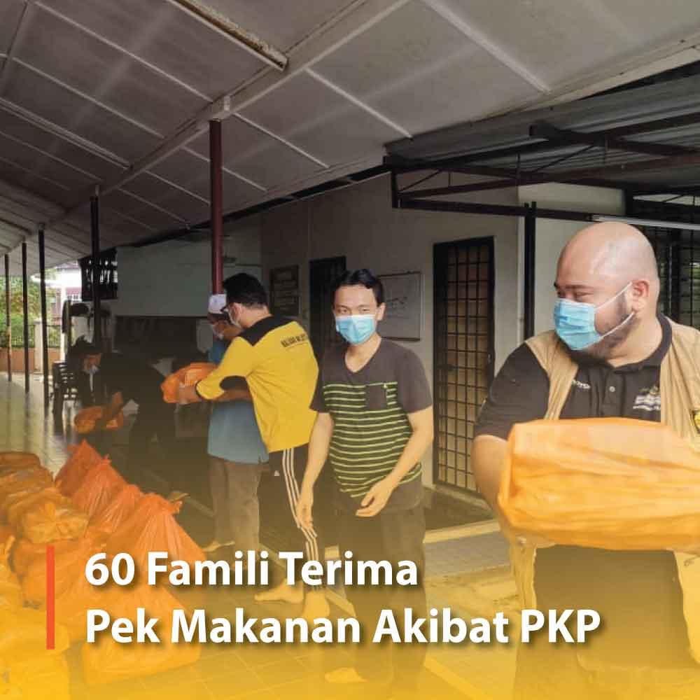 60 Famili Terima Pek Makanan Akibat PKP