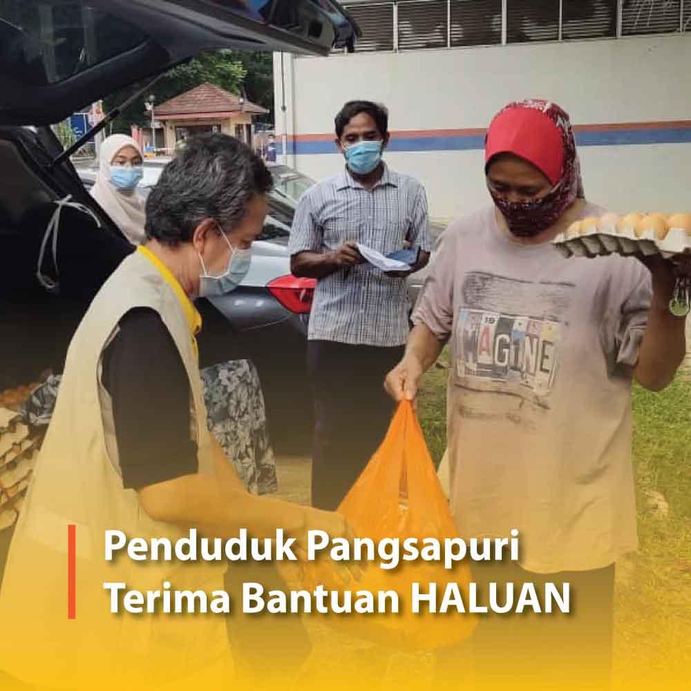 Penduduk Pangsapuri Terima Bantuan HALUAN Selangor