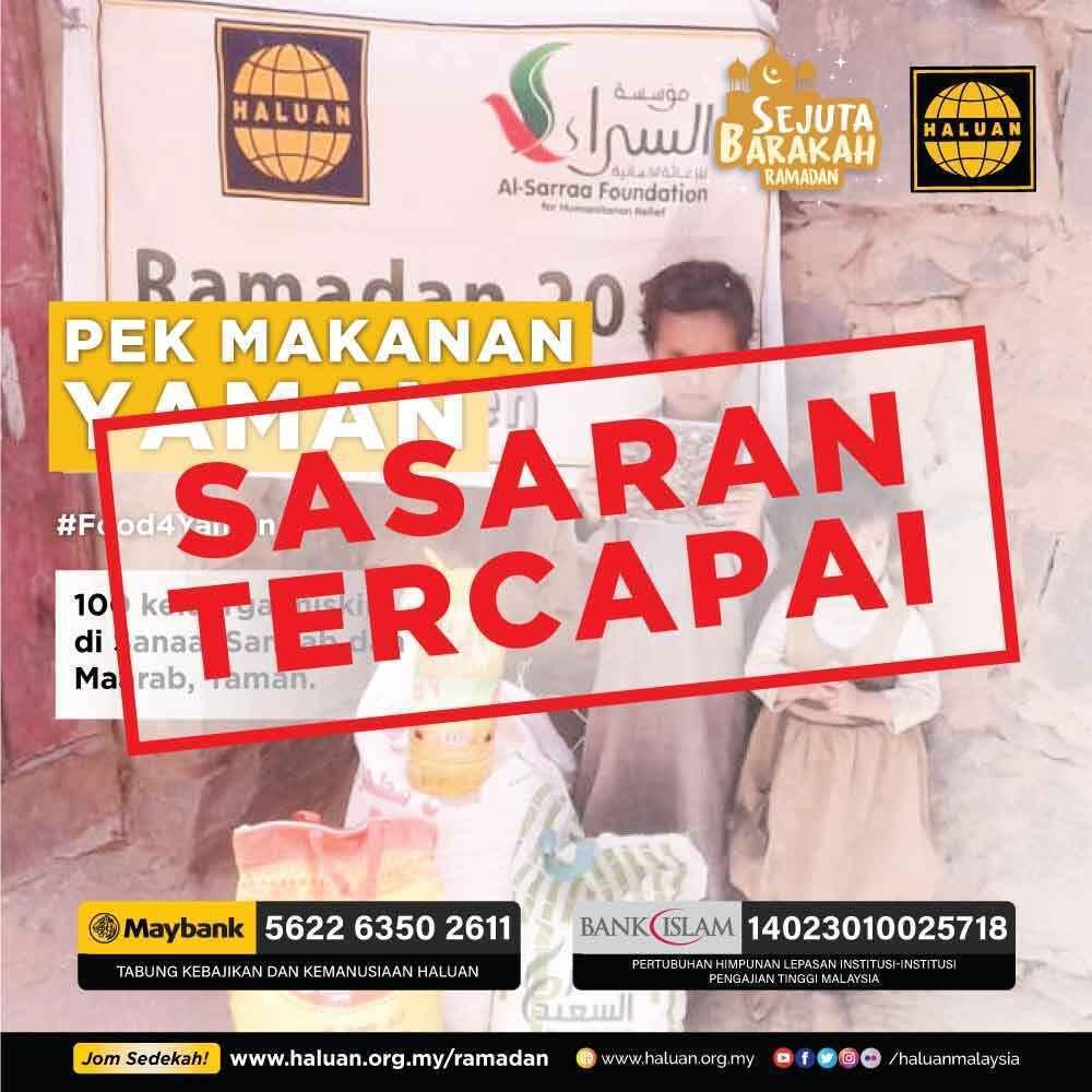 Alhamdulillah! #Food4Yaman Capai Sasaran