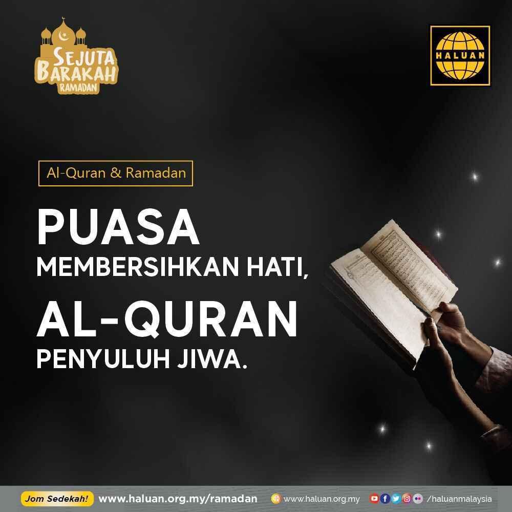 al-Quran & Ramadan Adalah DUA Perkara Yang Sebati