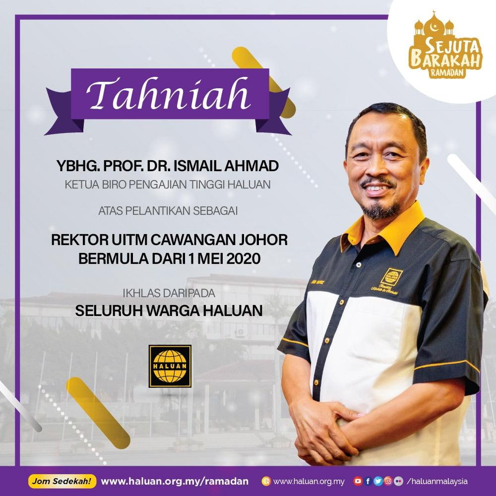 Tahniah Prof. Dr. Ismail!