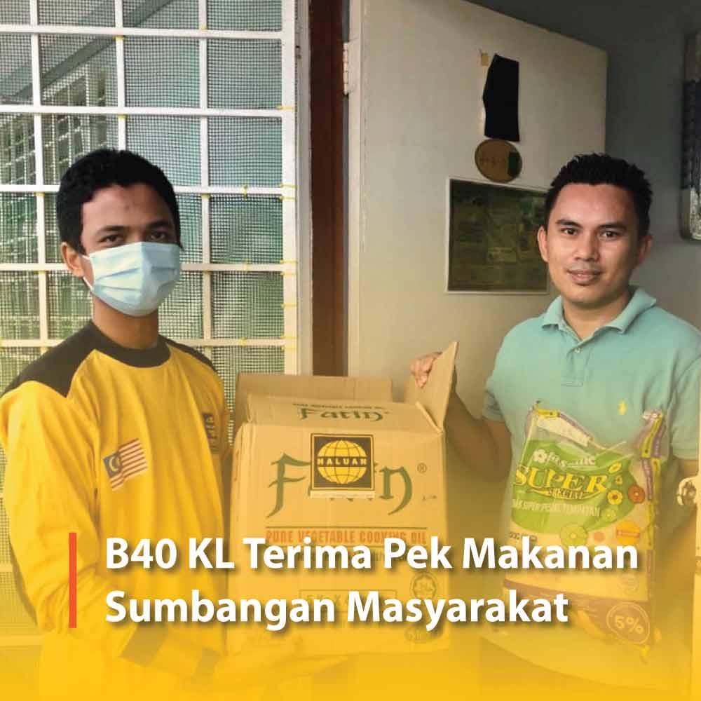 B40 KL Terima Pek Makanan Sumbangan Masyarakat