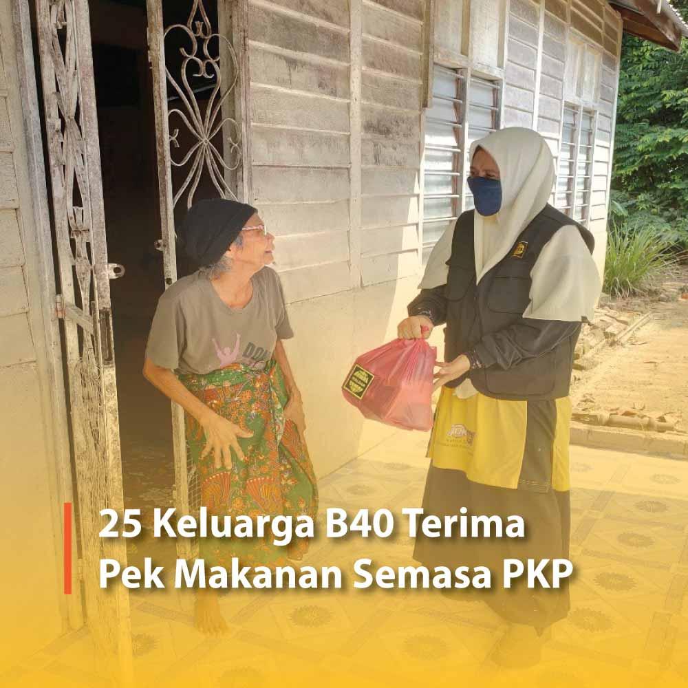 25 Keluarga B40 Terima Pek Makanan Semasa PKP