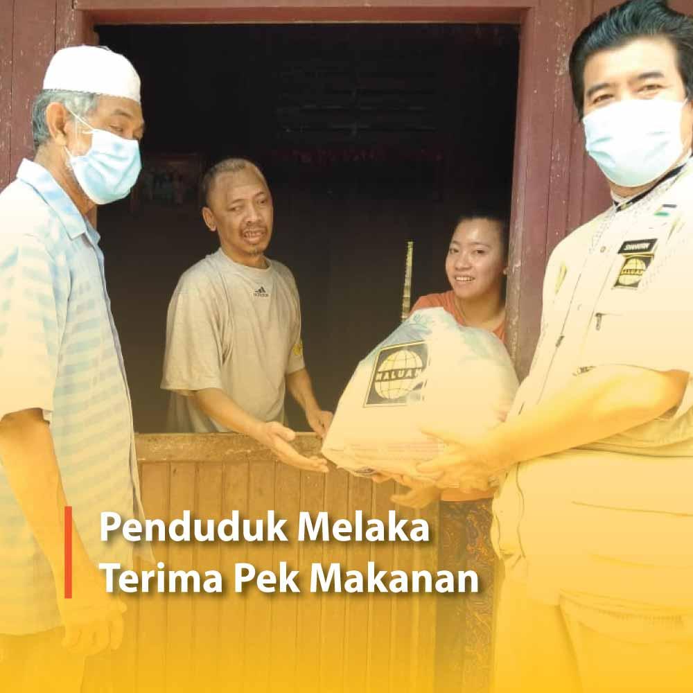 Penduduk Melaka Terima Pek Makanan
