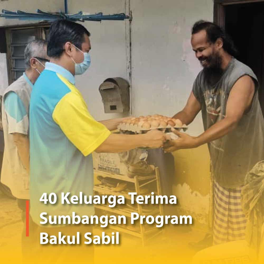 40 Keluarga Terima Sumbangan Program Bakul Sabil