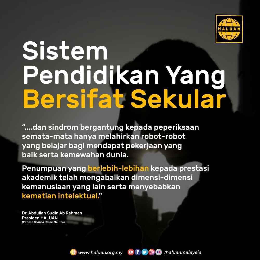 Sistem Pendidikan Yang Bersifat Sekular